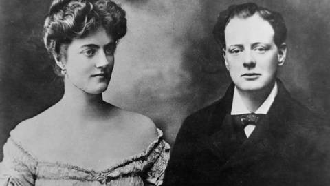 Winston Churchill und Clementine Hozier heiraten 1908 (Foto: Imago, imago images / United Archives International)