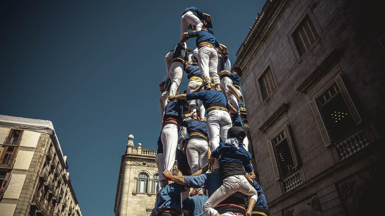 Menschliche Pyramide in Barcelona (Foto: Imago, Matthias Oesterle via www.imago-images.de)