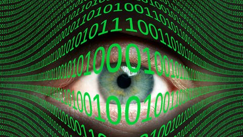 Augen- und Binärcode (Foto: Imago, imago images / Science Photo Library)