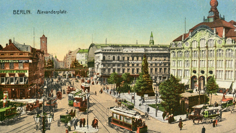 Berlin Alexanderplatz. Stadtansicht um 1910