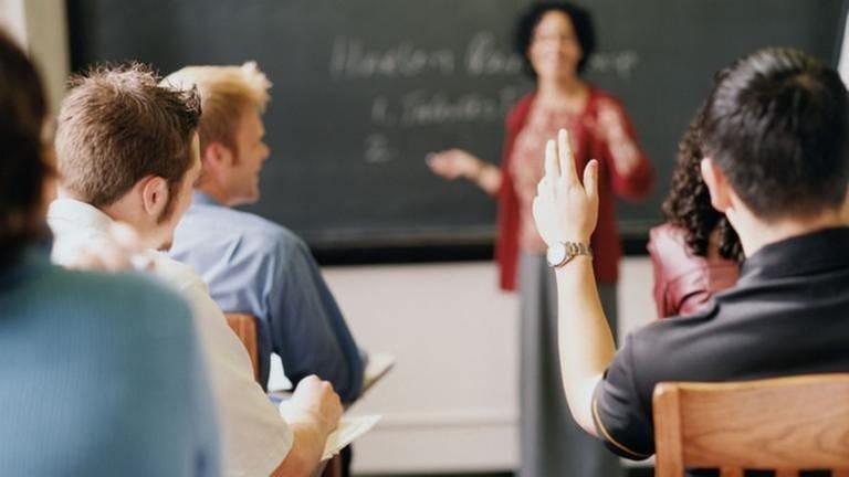 Eine Schulklasse beim Unterricht