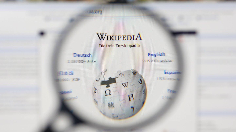 Wikipedia: Logo unter der Lupe (Foto: Imago, imago images / Future Image)