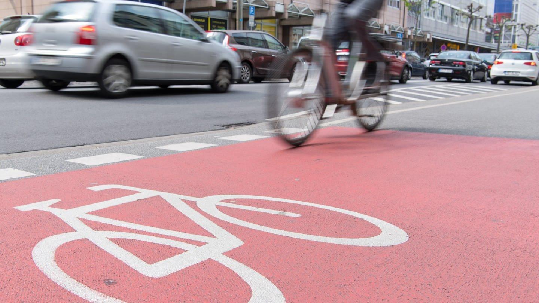 Ein Radfahrer fährt in Heidelberg über einen Radweg (Foto: picture-alliance / Reportdienste, picture alliance / dpa Themendienst   Uwe Anspach)