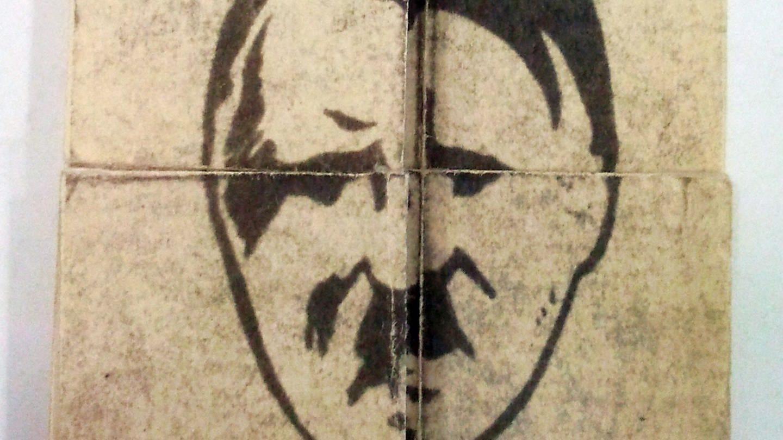 Hitler-Karikatur auf dem verbreiteten Faltblatt