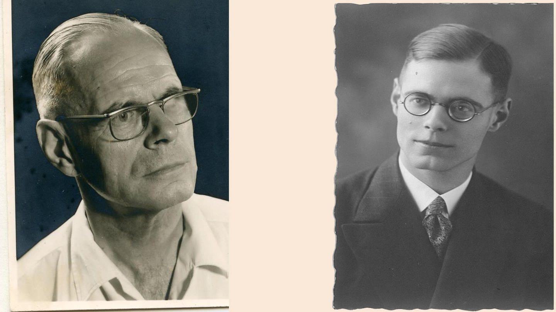 Karl Heinz Pfeffer 1971 und 26-jährig 1932 (Foto: SWR, Kilian Pfeffer (privat))
