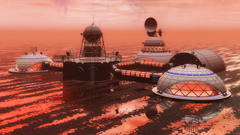 3D-Darstellung einer Raumstation (Foto: picture-alliance / Reportdienste, picture alliance/chromorange)