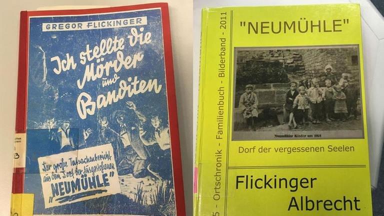 Bücher zur Geschichte der Neumühle von Gregor und Albrecht Flickinger (Foto: SWR, SWR - Gabor Paal)