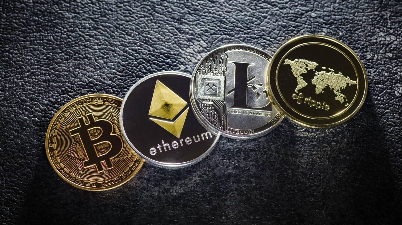 Kryptowährungen Bitcoin, Ethereum, Litecoin und ripple (Foto: Imago, imago/photothek)