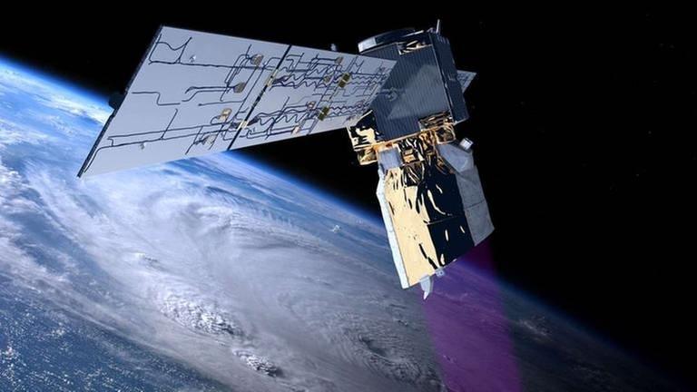 Wetterbeobachtung mit Aeolous (Foto: Pressestelle, ESA -)