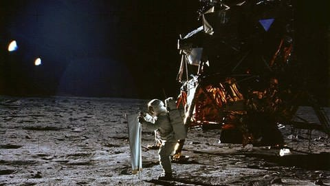 "Mission Apollo 11: Astronaut Edwin ""Buzz"" Aldrin auf dem Mond am 20.7.1969  (Foto: Imago, imago/UPI Photo)"