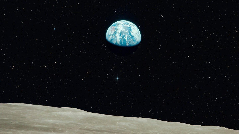 Apollo 8 Mission - Earthrise. Eins der ersten Bilder von der Erde aus dem All. (Foto: Imago, Skyfish)