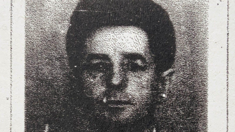 Vergrößertes Foto von Walter Praedel aus der MfS-Akte vom Tag der Verhaftung am 7.10.1961 (Foto: Maximilian Schönherr)