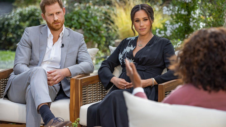 Prinz Harry und seine Ehefrau Herzogin Meghan im Gespräch mit US-Starmoderatorin Oprah Winfrey