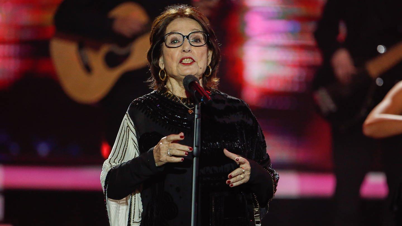 Die griechische Sängerin Nana Mouskouri