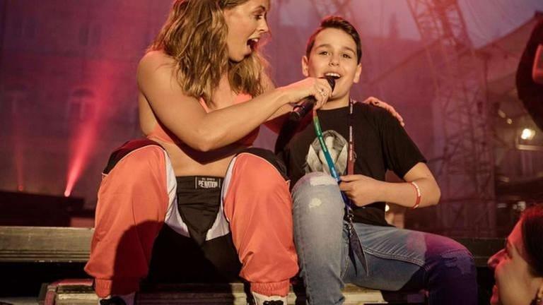 Vanessa Mai auf der Bühne (Foto: SWR, SWR - Markus Palmer)