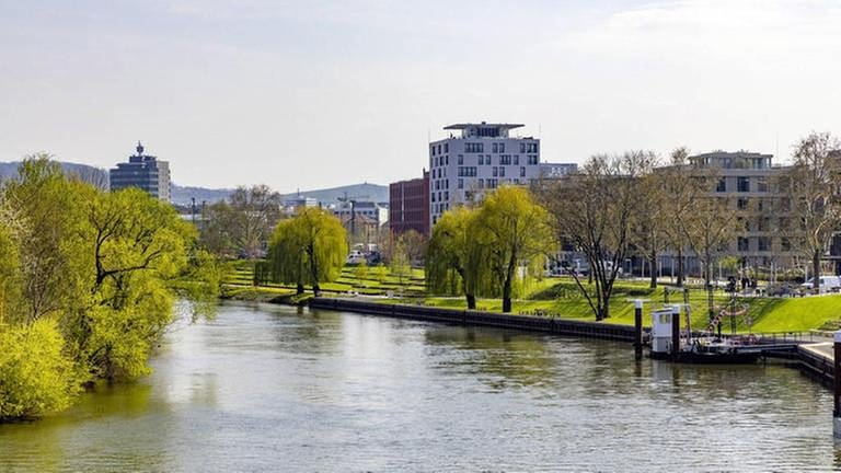 Der Neckar in Heilbronn ist Teil der Bundesgartenschau 2019 (Foto: Imago, Imago -)
