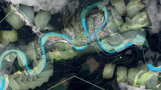 Analysebild von Copernicus - The European Earth Observation Programme (Foto: Copernicus Emergency Management Service (© 2021 European Union), EMSR517: Flood in Western Germany - https://emergency.copernicus.eu/mapping/list-of-components/EMSR517/GRADING/EMSR517_AOI15)