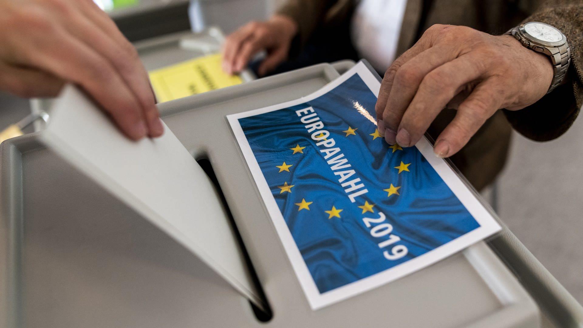 Stimmzettel der Europawahl 2019