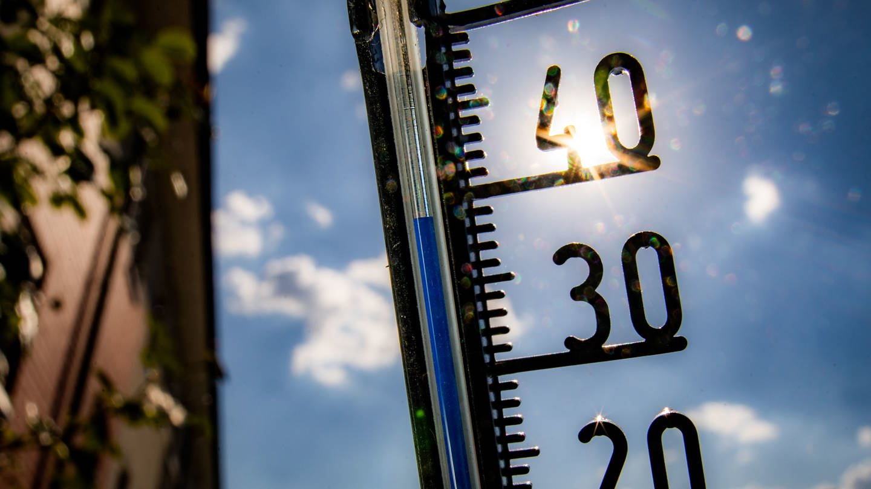 Thermometer (Foto: dpa Bildfunk, picture alliance/Frank Rumpenhorst/dpa)
