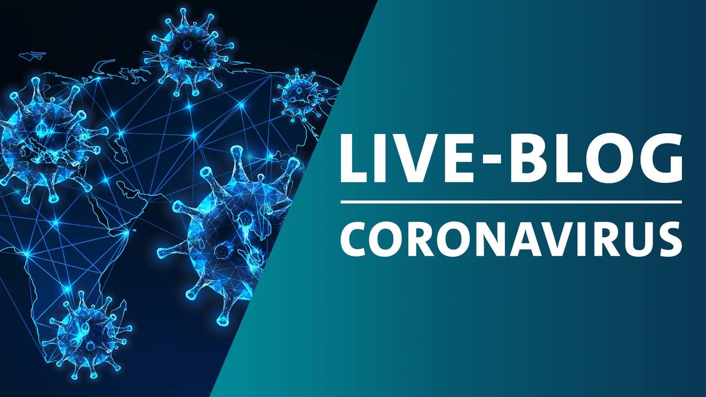 Coronavirus-Bild mit Live-Blog-Logo (Foto: Colourbox, Montage: SWR)