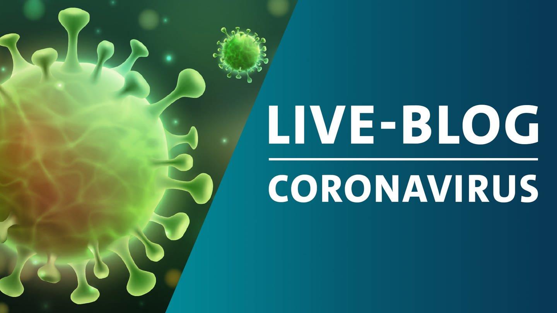 Coronavirus-Bild mit Live-Blog-Logo