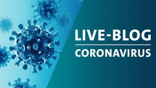 Montage eines schematischen Bildes von Viren der Familie Corona mit der Grafik von SWR Aktuell Live-Blog zum Coronavirus (Foto: Getty Images, Montage: SWR)