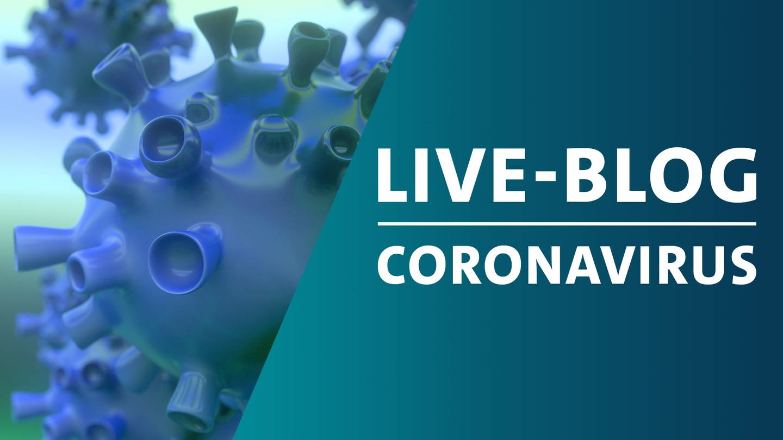 Montage eines schematischen Bildes von Viren der Familie Corona mit der Grafik von SWR Akktuell Live-Blog zum Coronavirus (Foto: Getty Images, Montage: SWR)