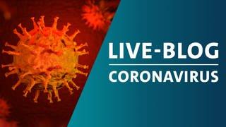 Montage eines schematischen Bildes von Viren der Famiie Corona mit der Grafik von SWR Akktuell Live-Blog zum Coronavirus (Foto: Getty Images, aprott)