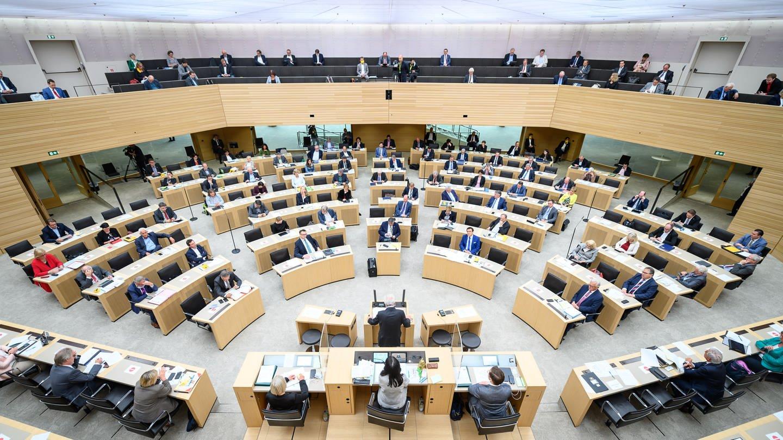Der Landtag von Baden-Württemberg (Foto: dpa Bildfunk, picture alliance/dpa | Sebastian Gollnow (Archiv))