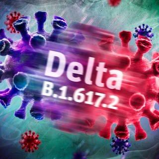 Symbolfoto der Delta-Variante des Coronavirus (Foto: Imago, IMAGO / Christian Ohde)