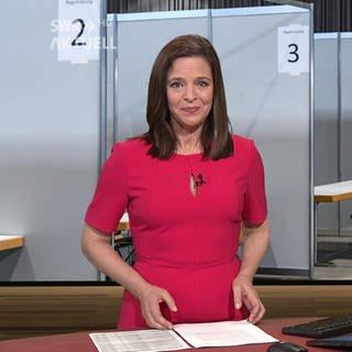 Nachrichtensprecherin Stephanie Haiber (Foto: SWR)