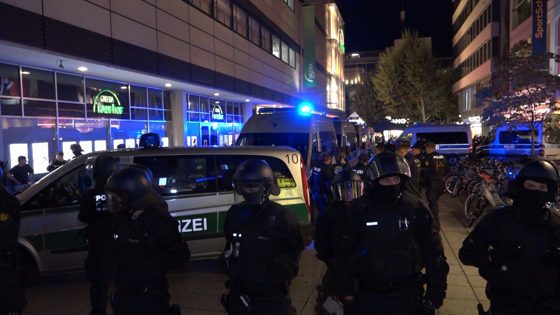 Polizeieinsatz Mannheim Heute