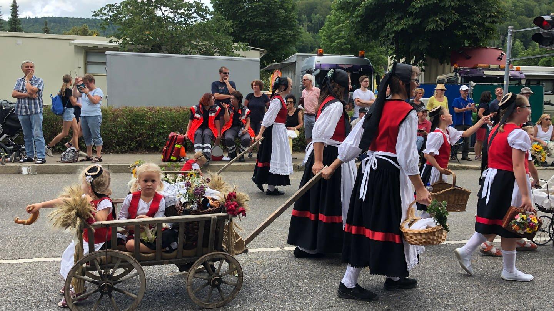 Umzug durch die Innenstadt beim Schäferlauf in Bad Urach (Kreis Reutlingen) (Foto: SWR, Anne Schmidt)