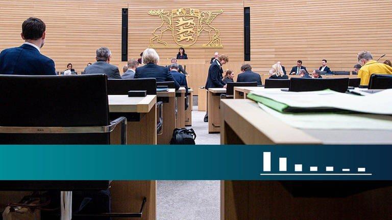 Das Plenum im Landtag von Baden-Württemberg (Foto: SWR)