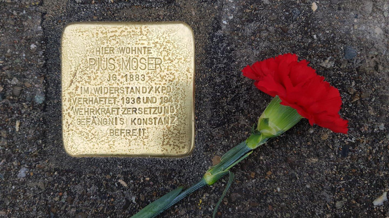 Ein Stolperstein in Konstanz erinnert an Pius Moser. (Foto: SWR)