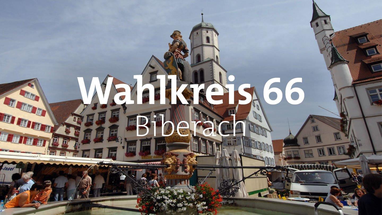 Der Marktplatz in Biberach. (Foto: dpa Bildfunk, picture alliance/dpa/Stefan Puchner)