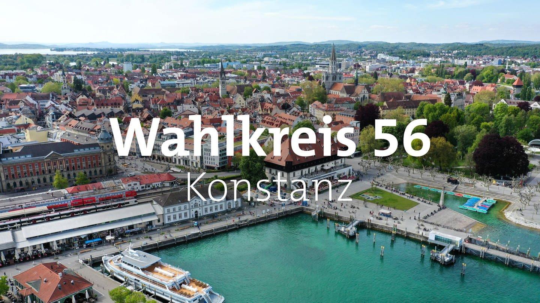 Luftansicht des Konstanzer Hafens. (Foto: dpa Bildfunk, picture alliance/dpa/Felix Kästle)