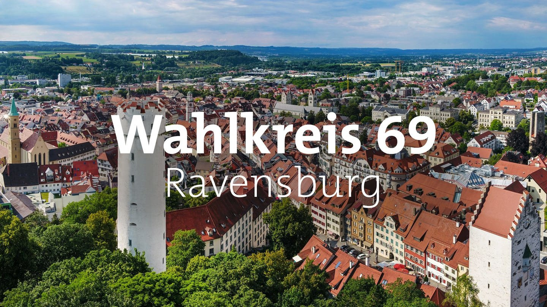 Luftansicht der Stadt Ravensburg (Foto: Pressestelle, Stadt Ravensburg/Felix Kästle)
