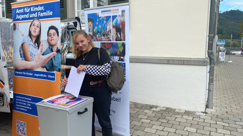 U 18 Wahl in Ludwigshafen am Bodensee -ein Projekt des Bundesjugendring