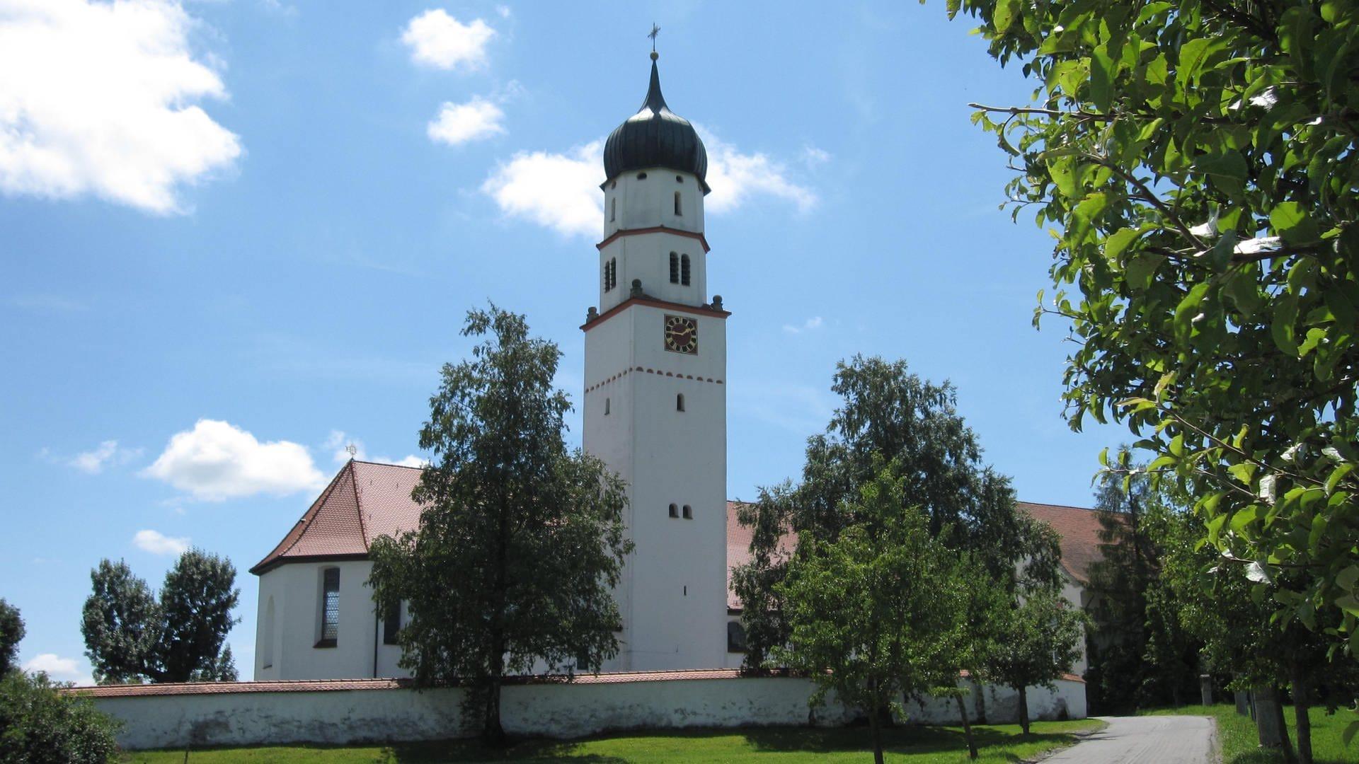 Die barocke Dorfkirche St. Martin in Eintürnen bei Bad Wurzach
