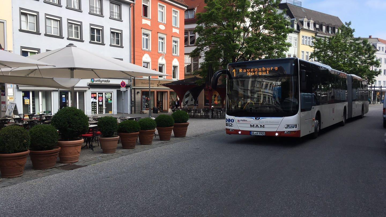 Ein Stadtbus in Ravensburg (Foto: SWR, Marion Kynaß)