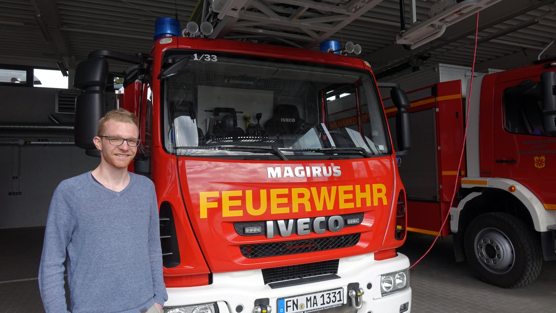 Felix Bäder macht eine Ausbildung bei der Feuerwehr Markdorf.