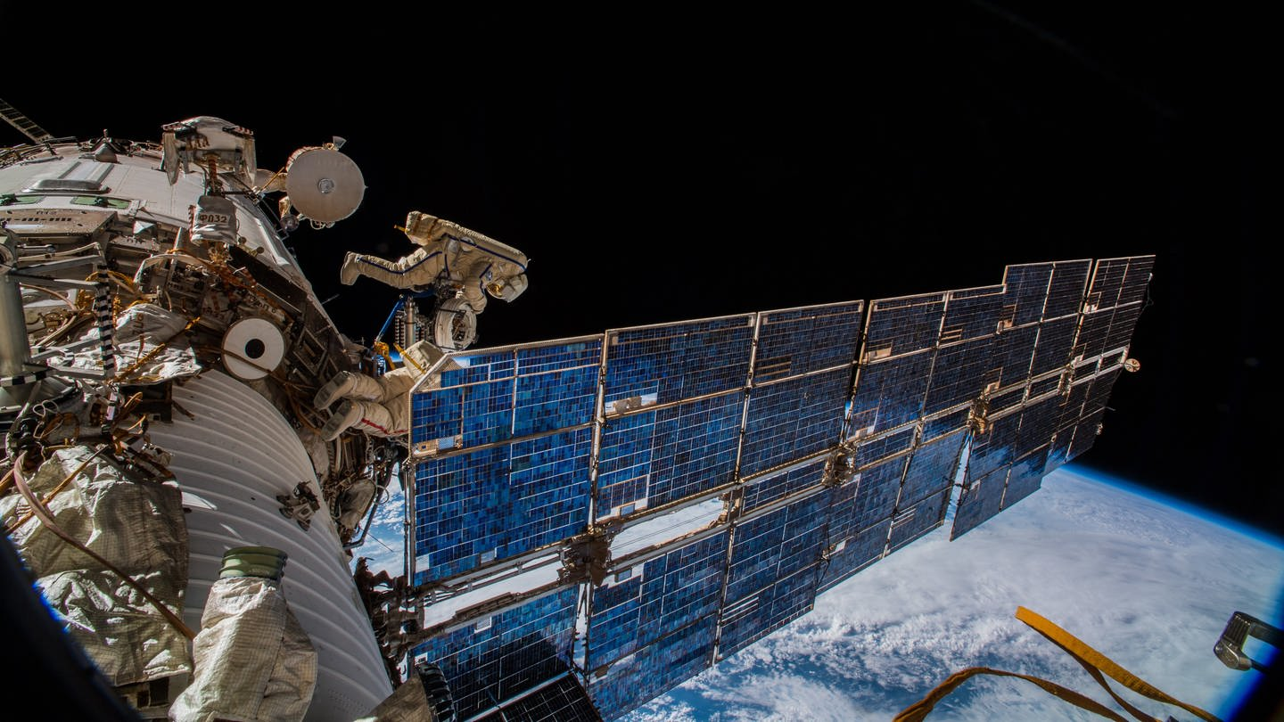 Weltraumstation ISS (Foto: picture-alliance / Reportdienste, picture alliance/Alexander Gerst/ESA/dpa)