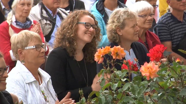 Rund 800 Besucher waren zum Pfingstmontagsgottesdienst auf die BUGA nach Heilbronn gekommen