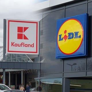 Kaufland und Lidl (Foto: SWR)