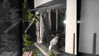 Zerstörung an einem Wohnhaus in Leingarten (Kreis Heilbronn) nach Explosion eines Akkus an einem Gartengerät (Foto: SWR, Freiwillige Feuerwehr Leingarten)