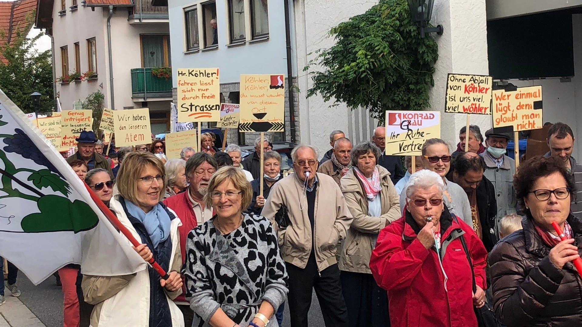 Bürgerproteste gegen die umstrittene Bodenverbesserungsanlage in Gerlachsheim (Main-Tauber-Kreis)