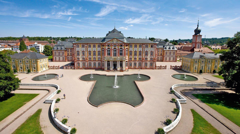 Blick auf das Schloss Bruchsal