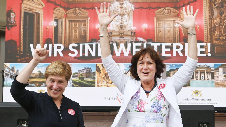 Baden-Badens Oberbürgermeistern Mergen (CDU) freut sich über den Welterbe-Titel
