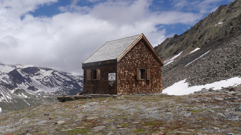 Fidelitashütte der DAV Sektion Karlsruhe in den Ötztaler Alpen.